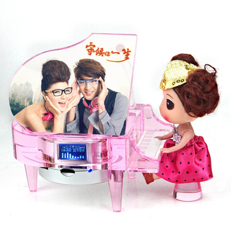 晶礼物音乐盒八音盒刻字生日女生创意送女生女吗喜欢多钢琴的水图片