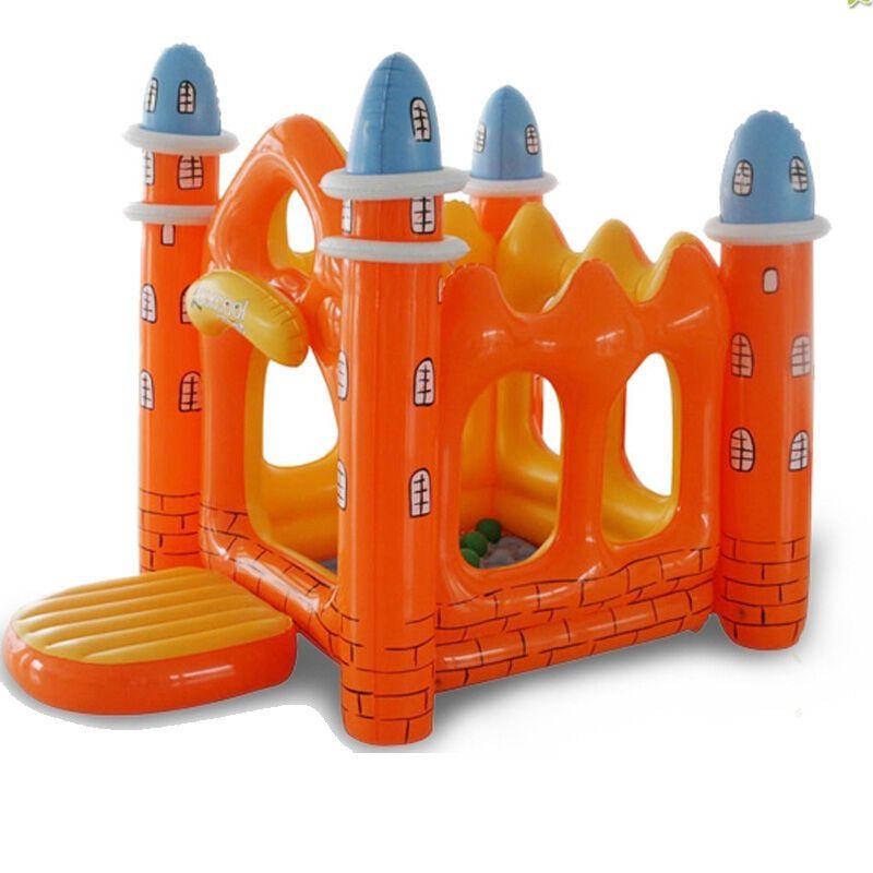 夏季产品 夏季玩具 充气玩具 海洋球池 大型儿童充气城堡 橙色