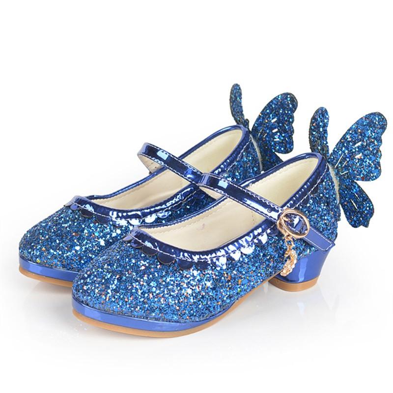 麦宝创玩 春秋女童皮鞋高跟鞋小学生女孩单鞋儿童公主