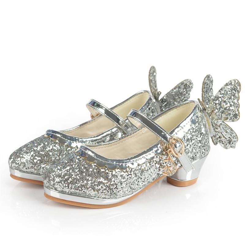 春秋女童皮鞋高跟鞋小学生女孩单鞋儿童