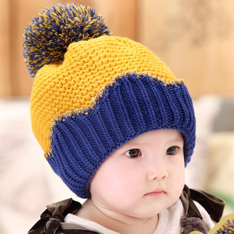 贝迪牛 新生儿童毛线帽婴儿帽子宝宝帽子冬季新款保暖