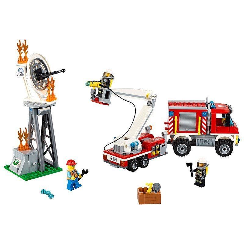乐高消防车拼装步骤