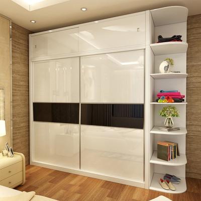 拉门趟门烤漆顶柜定制木质实木挂衣杆卧室家具滑移门衣帽间大衣柜立柜
