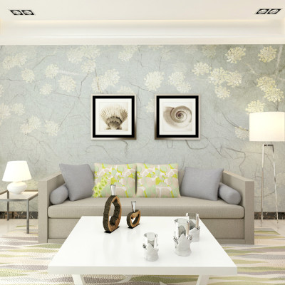 客厅电视背景墙壁画 沙发墙壁纸 卧室影视墙无纺布小清新墙布5658