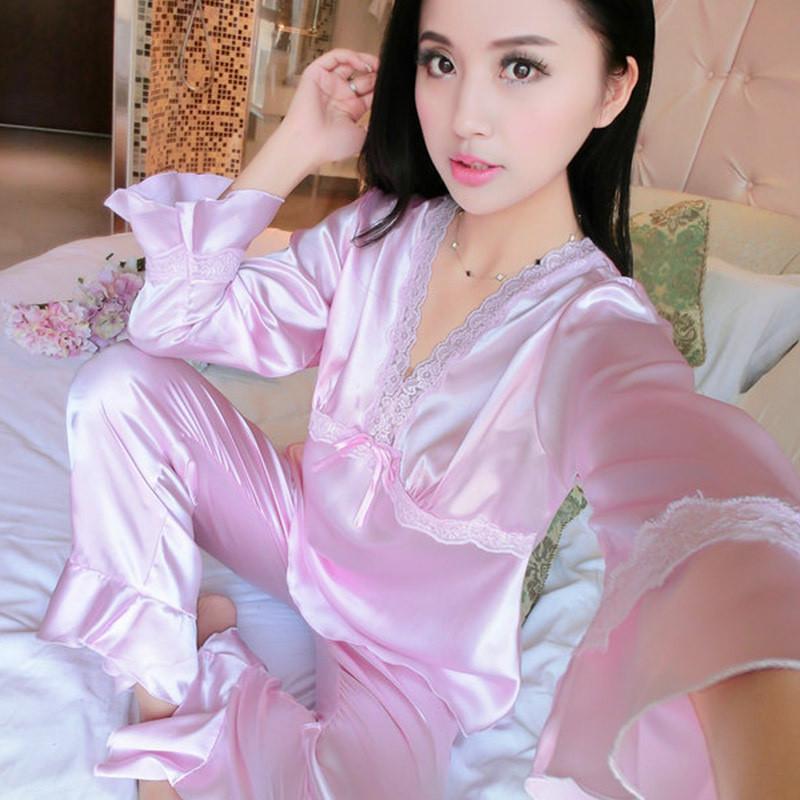 魅言魅语15170-1#春秋季照片袖性感长袖宣传女士陌陌仿真女人睡衣的特别为什么图片