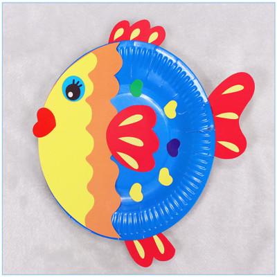 梦童工坊 儿童手工制作纸盘子画玩具 幼儿园宝宝创意粘贴美术材料包 b