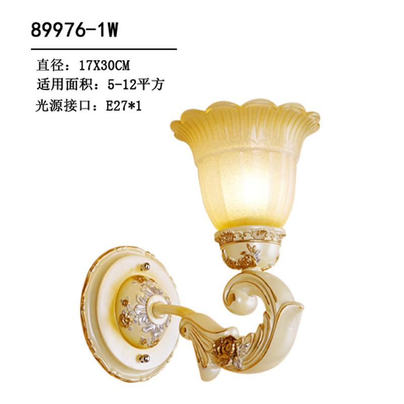 雕花复古简约现代卧室床头过道楼梯镜前灯 卫生间简欧阳台树脂壁灯8