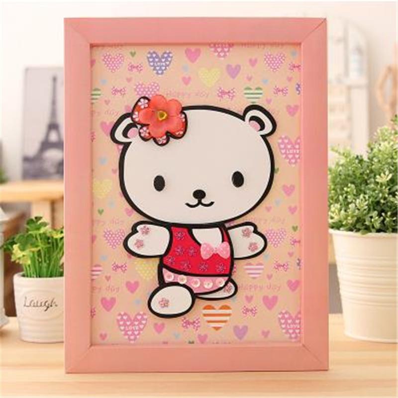 动物卡通贴画 儿童手工小羊创意制作立体贴相框拼图 小狗