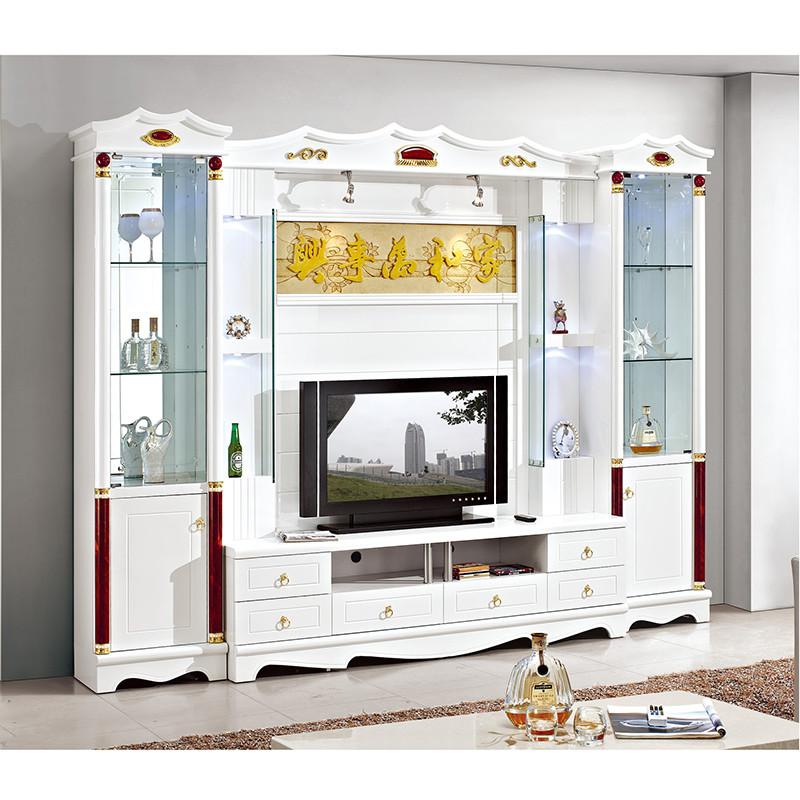欧式客厅电视墙柜