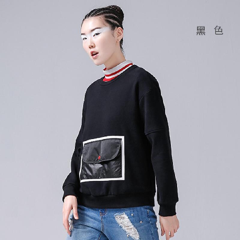 【初语系列】初语秋季新款大贴袋初中卫衣女长袖属于有风景自己一片作文总图片