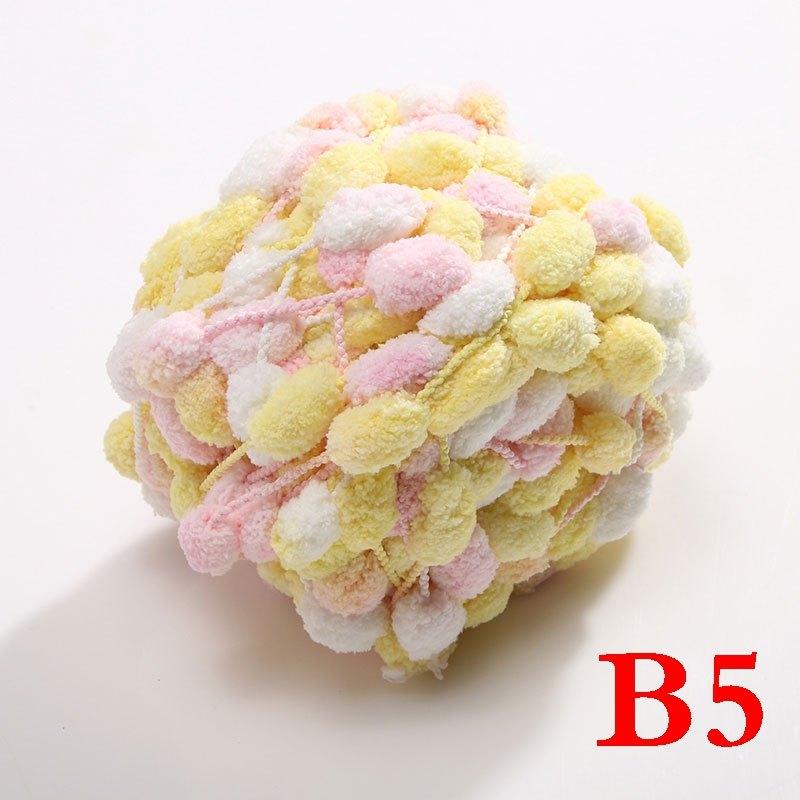 (买3团送针)手工编织毛线团大球球线波波球葡萄球线坐垫线2016秋冬季