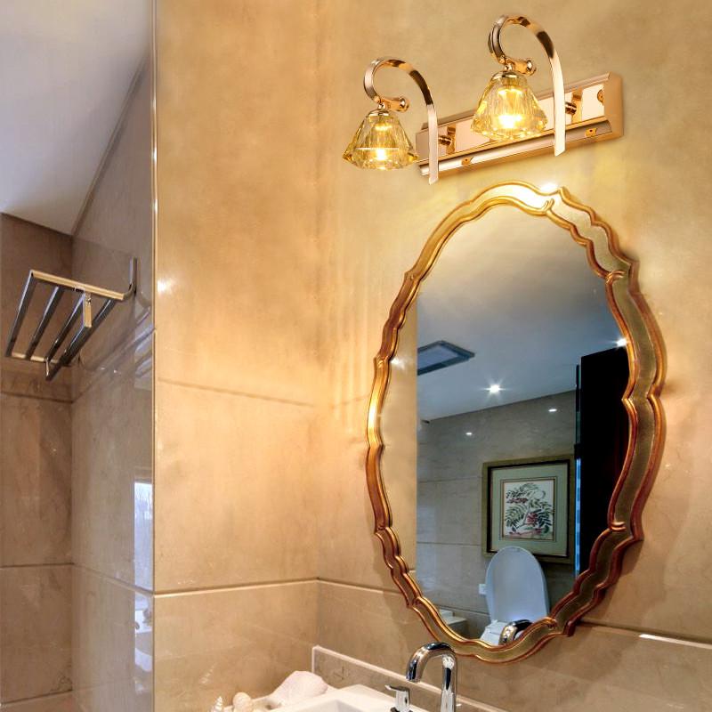 世冠 镜前灯欧式卫生间led镜灯镜柜梳妆台化妆灯现代简欧浴室镜前灯 2