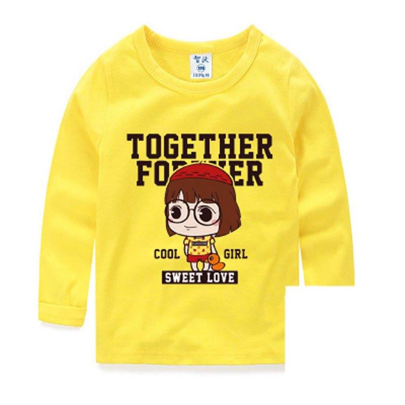 新品简约可爱卡通小动物五角星小清新多款多色可选 110cm 桔色长袖