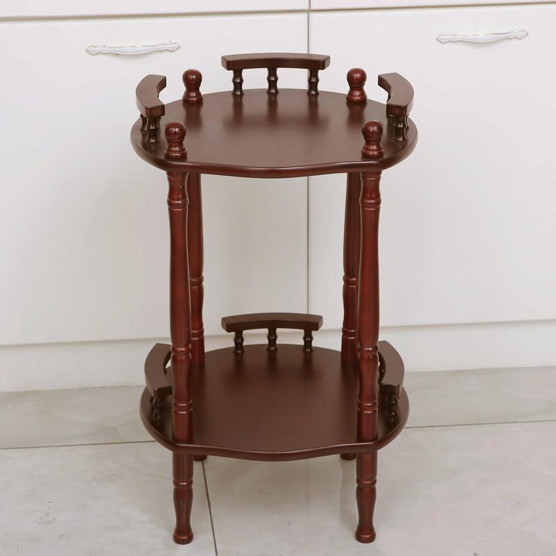淮木(huaimu)欧式圆形小茶几沙发边几麻将桌边角几简约棋牌室小桌子