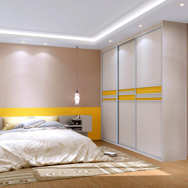 sogal索菲亚 衣柜 卧室家具 现代简约风格 木质移门主卧衣柜整体衣柜
