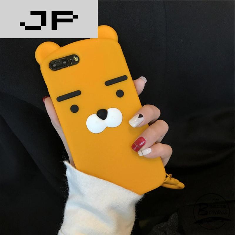 jp潮流品牌韩国可爱卡通小熊挂绳iphone7手机壳苹果6s plus硅胶软壳个