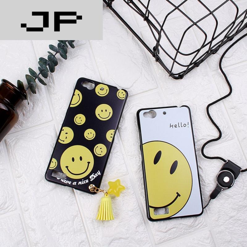 my布拉格手机壳软nx513j保护硅胶套韩国可爱笑脸流苏s 白底happy笑脸
