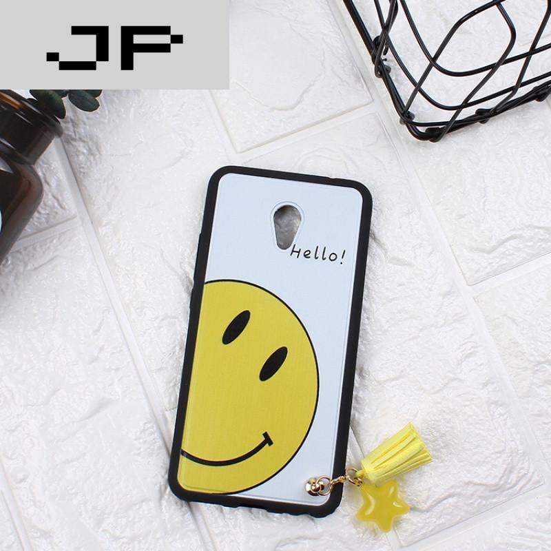 创意pro6s保护硅胶套韩国可爱笑脸流苏卡通软 白底happy笑脸 短流苏