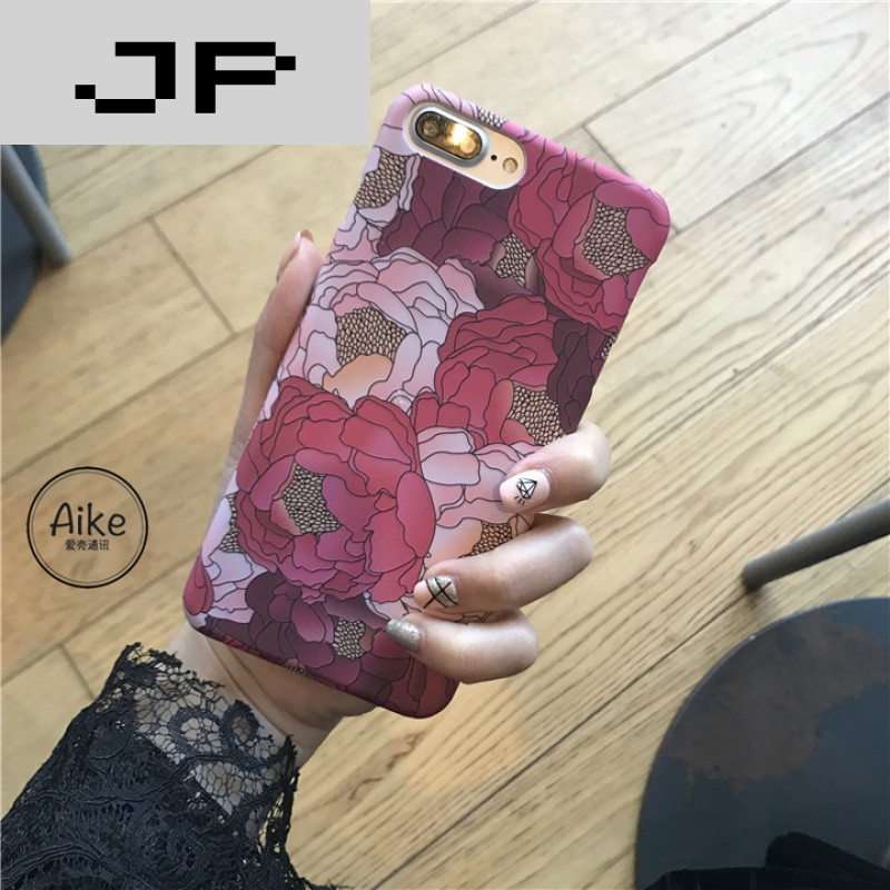 JP花卉品牌韩国ins复古红潮流iphone6s7plus微博解绑手机图片