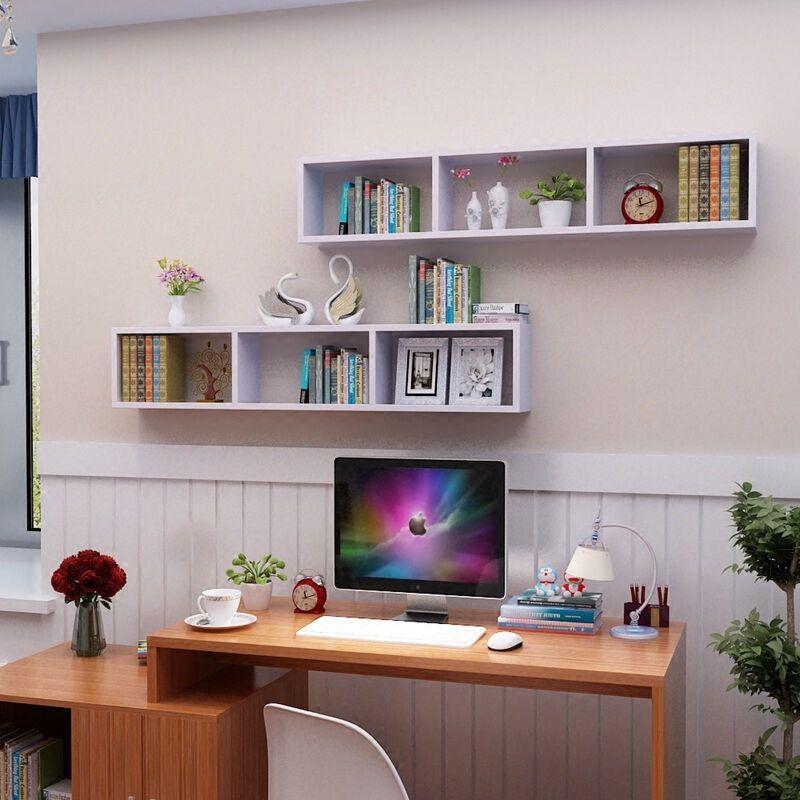 欣颖家居创意简约隔板墙上置物架壁挂墙壁书架简易学生儿童书柜储物架
