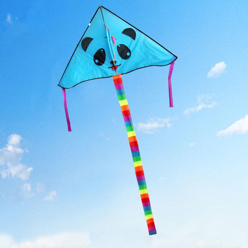 风筝 儿童风筝 卡通风筝 可爱小熊猫风筝 颜色随机