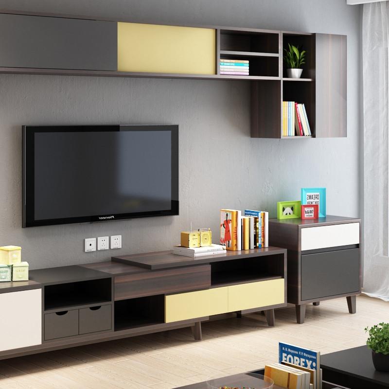 华纳斯 北欧电视柜茶几组合套装 现代简约小户型电视墙柜组合厅柜