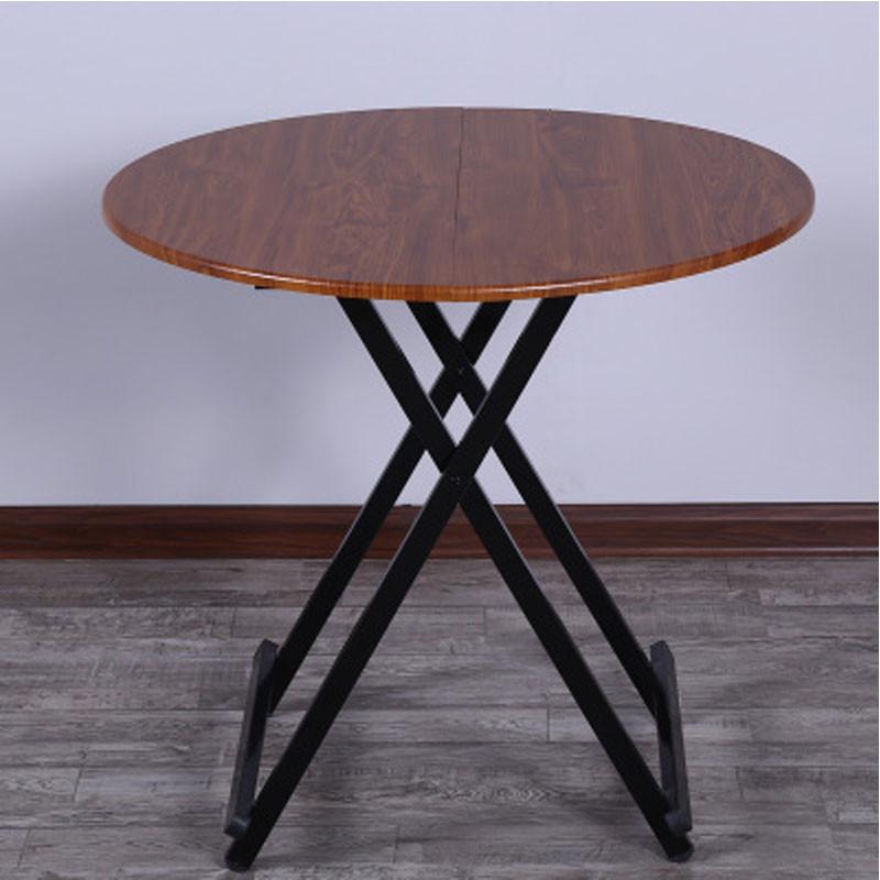 家居家用可折叠式桌多功能简易吃饭桌子饭桌圆桌收缩小圆形可折叠简易