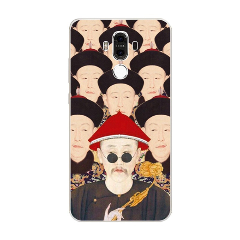 622款华为mate9手机套pro保护壳软创意搞笑卖萌古代皇帝系列挂绳定制