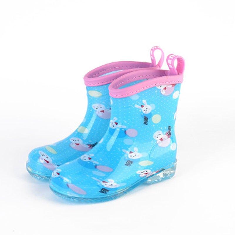 2017新品夏季 可爱卡通儿童雨靴幼儿小孩公主儿童雨鞋防滑加厚宝宝