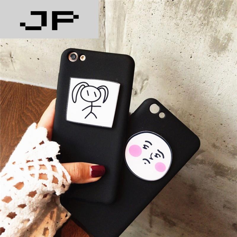 jp潮流品牌手绘可爱小辫子女孩红米4/3s/2/1s手机壳红米note2/3/4保护