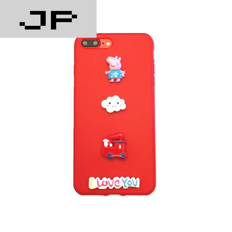 JP品牌小额小猪佩奇iphone6S潮流7plus手机壳安卓苹果贷款图片