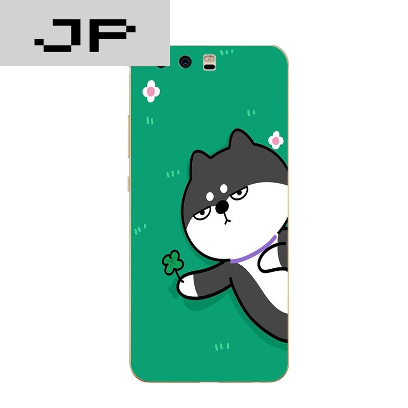 品牌华为p10/plus手机壳荣耀8青春版/v9硅胶保护套q版可爱搞怪柴犬