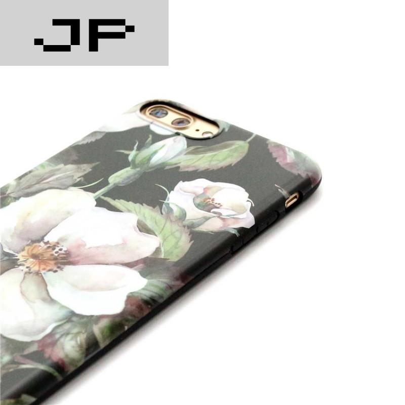 jp潮流品牌欧美复古文艺风 油画山茶花iphone7手机壳苹果6splus软壳潮
