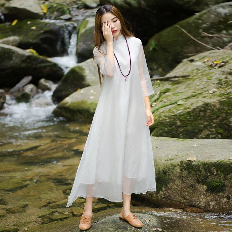 连衣裙夏仙