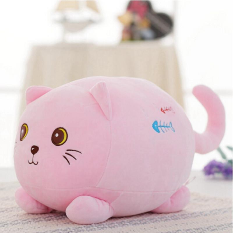 中天乐可爱趴趴团子小猫咪公仔羽绒棉毛绒玩具玩偶七夕情人节生日礼物
