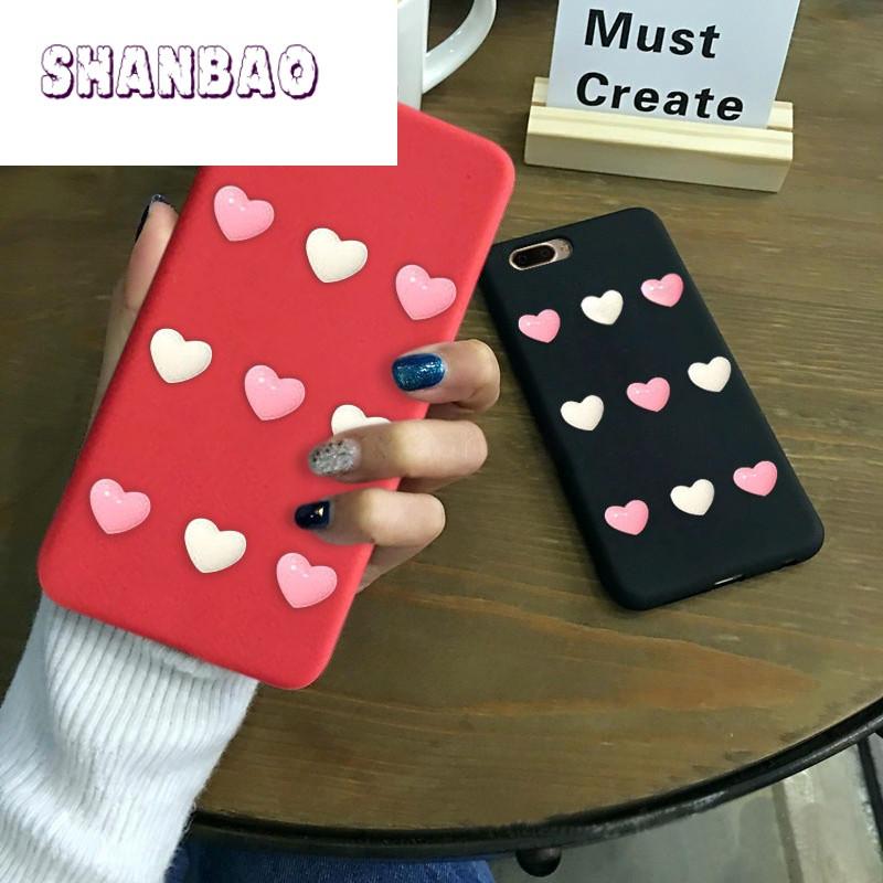SHANBAO少女粉色爱心小米MAX2手机壳note