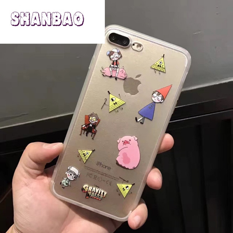 SHANBAOa苹果苹果摇摇猪表情6s手机壳4.7软胖虎机器猫小镇包图片