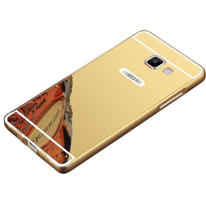 特七三星2016版on5手机壳保护套/金属边框镜面后盖硬壳g5528/5700防摔