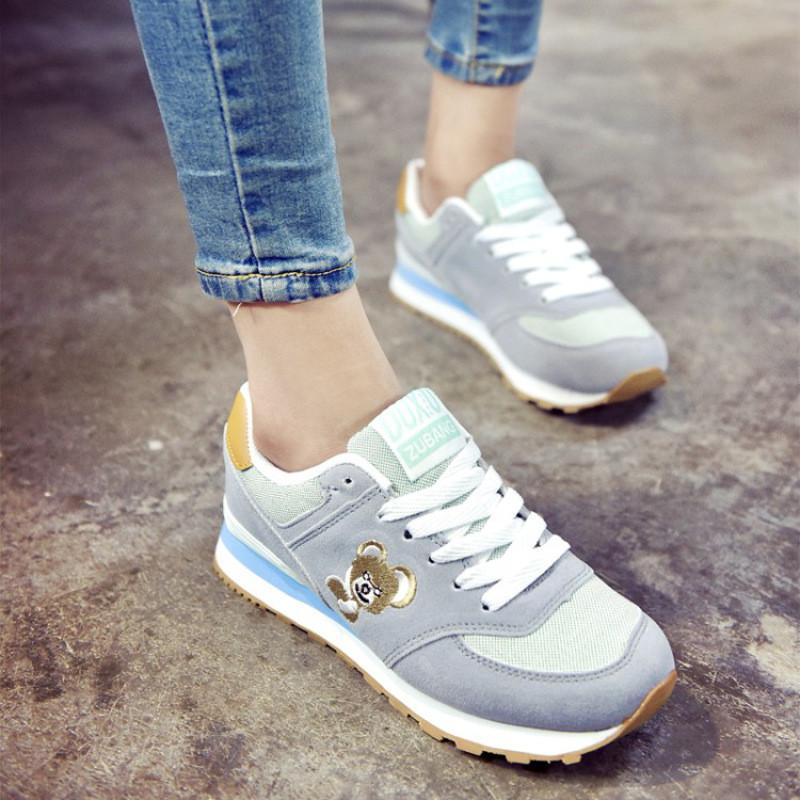 秋女鞋2017新款高中运动鞋女韩版学生大学跑升高中澳洲女生图片