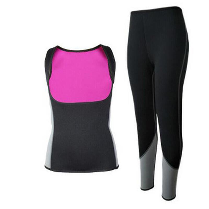 休闲运动出汗爆汗服排汗健身服减肥跑步发汗暴减脂肪视频的腹部图片