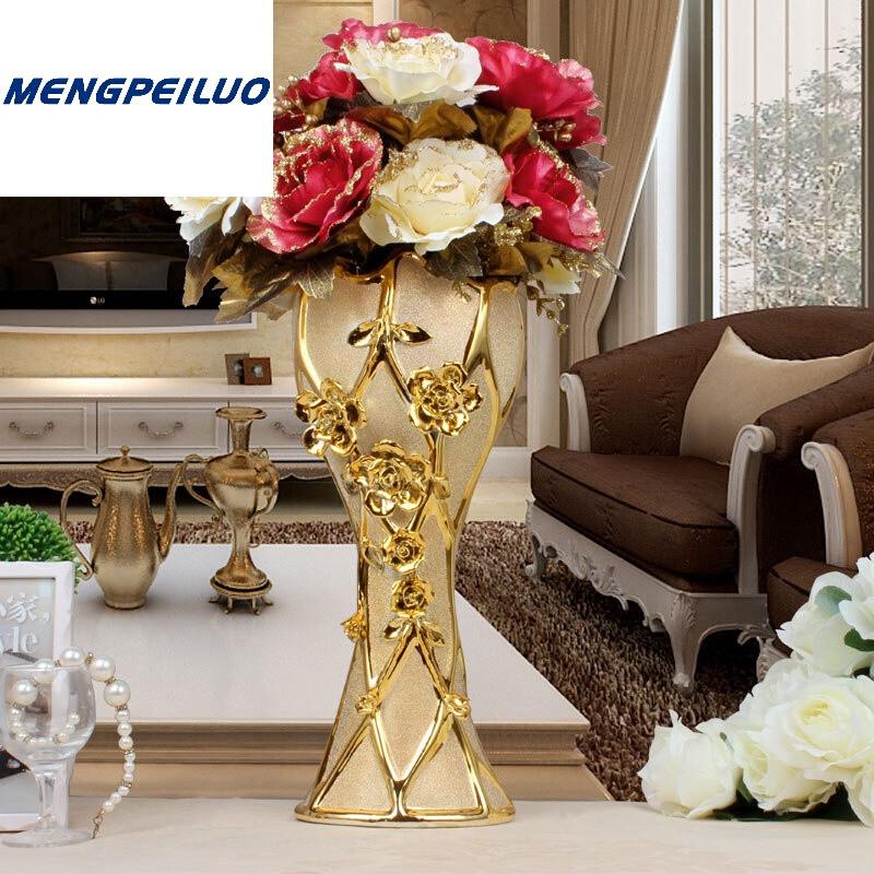家居装饰品摆件电视柜客厅摆设工艺品bz333_1 大圣杯中号带欧式花2束