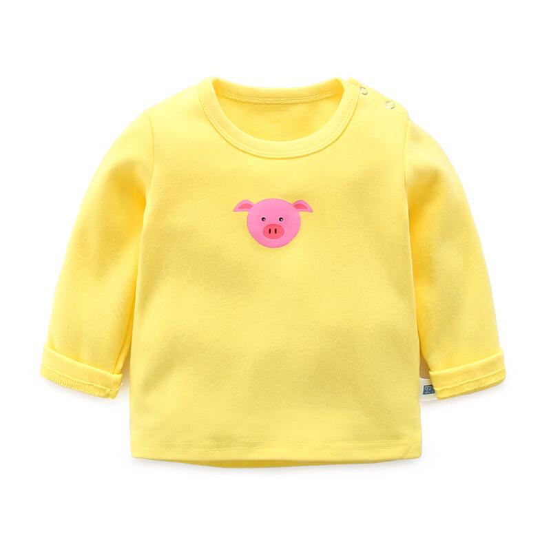 女宝宝打底衫春秋婴儿衣服含棉3个月小童秋季