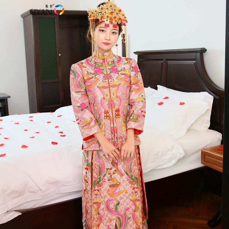 斯妍秀禾服新娘中式结婚礼服红色婚纱同款龙凤褂刘诗诗款_1 l 默认图片