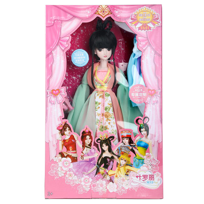 促销芭比叶罗丽娃娃夜萝莉仙子定制改装清朝末代格格墨玉古装女孩玩具图片