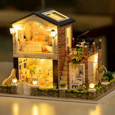 diy小屋手工制作房子模型大型豪华别墅公主房生日礼物