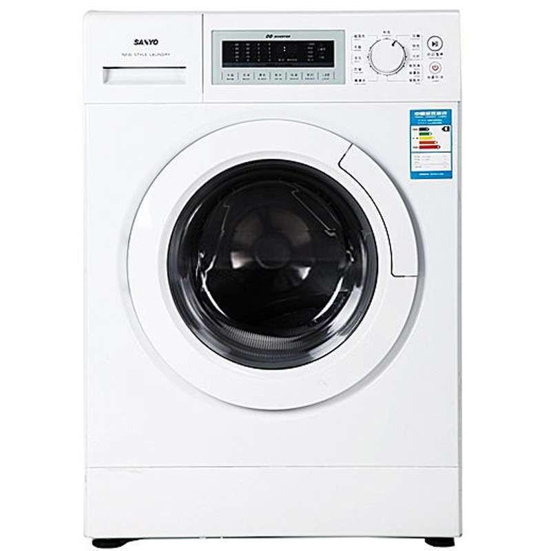 行货SANYO三洋滚筒洗衣机XQG60-F1028BW,1618元包上门