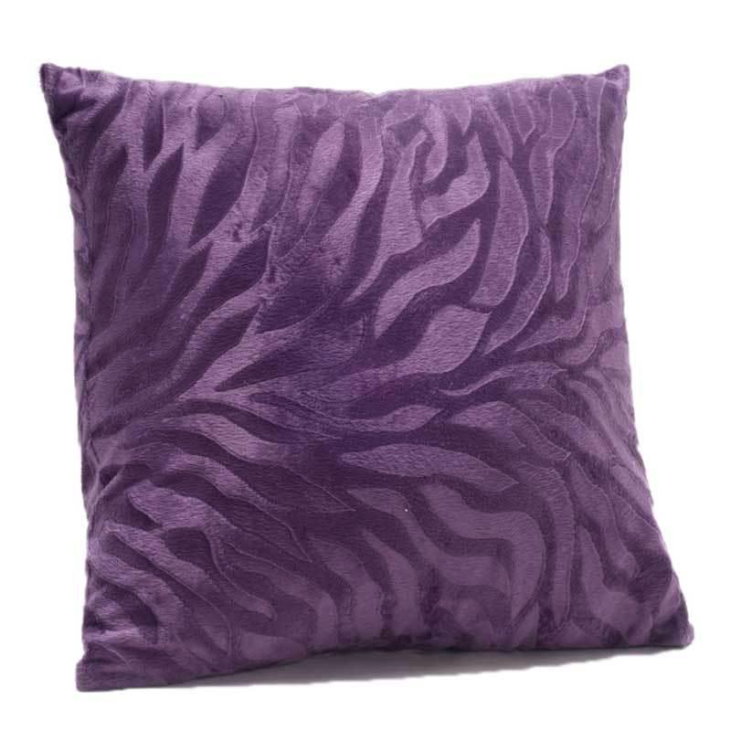 艾维家纺沙发靠垫休闲靠枕靠芯抱枕时尚糖果色靠垫*紫