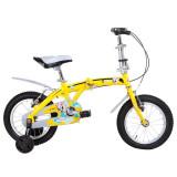 强孩纳高级儿童折叠自行车F1406-3黄