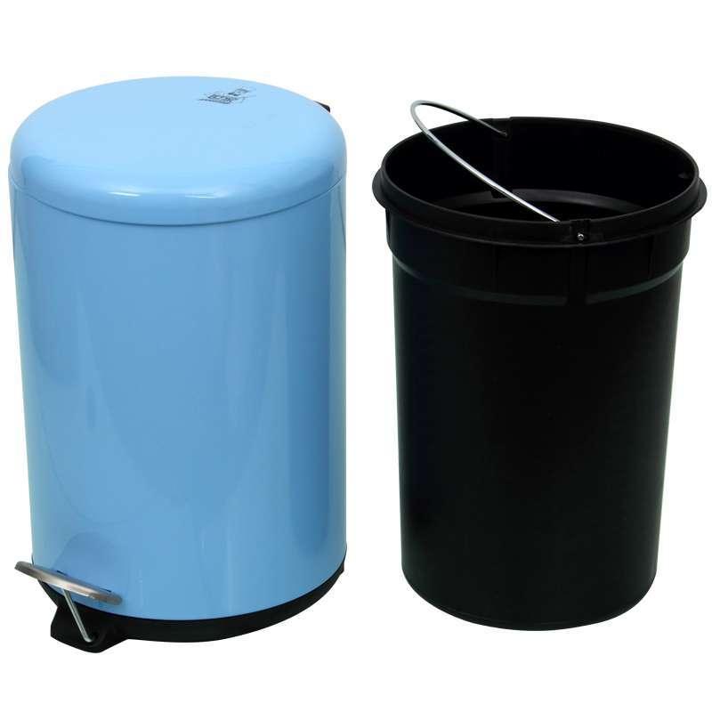 世家12l圆形彩色脚踏垃圾桶
