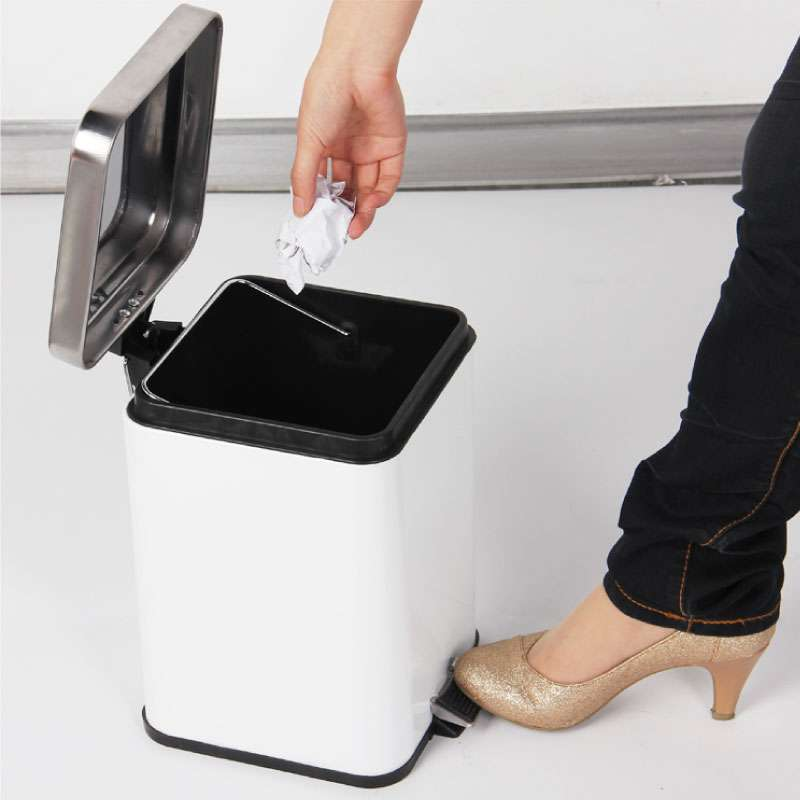 世家6l方形脚踏式垃圾桶【报价
